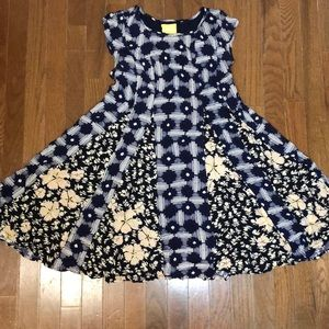 Anthropologie Navy Maeve Dress